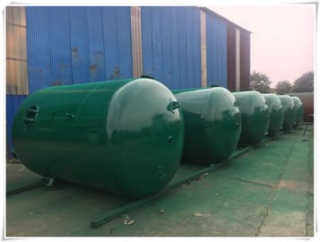Horizontal Air Receiver Tanks For Compressors , Stainless Steel Pressure Vessel